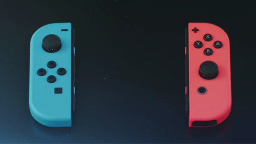 The new colored Joy Con controllers!