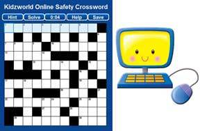 Preview online safety crossword pre