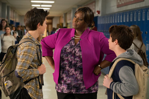 Rafe and pal Gus are scolded by Vice Principal Stricker