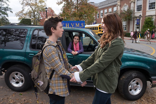 Mom (Lauren Graham) sees Rafe off to first day of new school