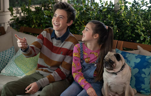 Rafe with little sis and the family dog