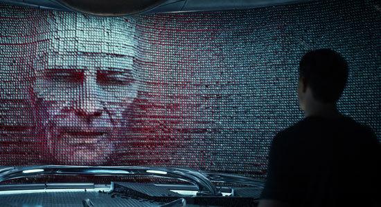 Zordon (Bryan Cranston) speaks to Jason
