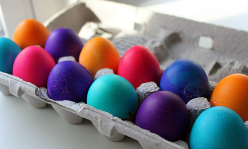 Pick your favorite color and dye the eggs!