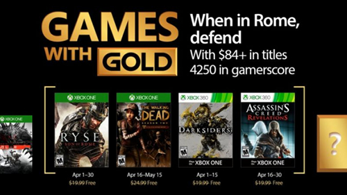 Xbox's Games with Gold lineup for April 2017.