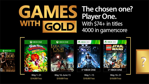 Xbox's Games with Gold lineup for May 2017.