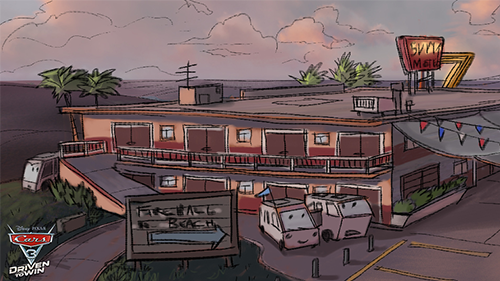 An early look at a motel featured in the game.