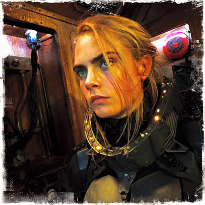 Cara as Laureline suited up to find Valerian