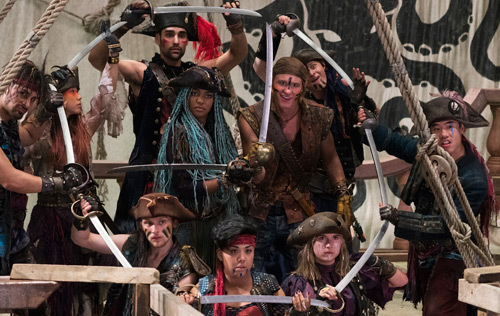 Uma with her pirate gang