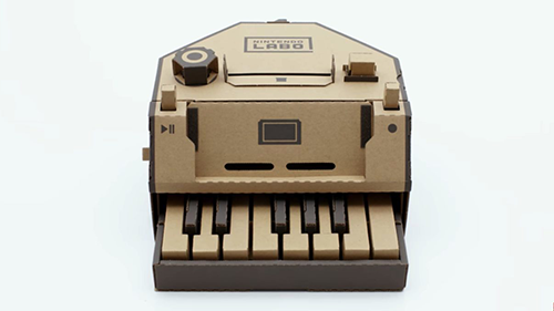 Nintendo Labo's new piano just waiting for a Switch to be connected.