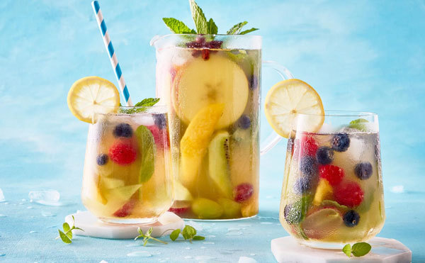 Use your favorite fruits when making punch.