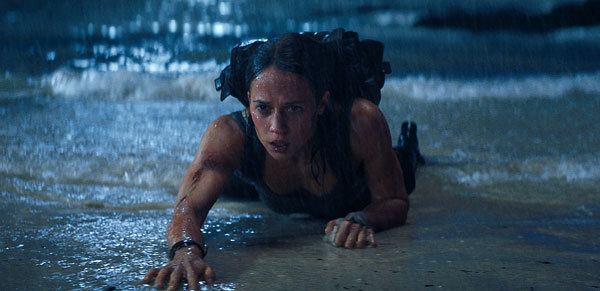 Lara is washed ashore after the ship sinks