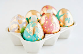 Preview gold leaf easter eggs pre