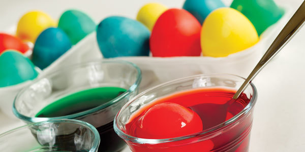 Feature how to make dyed easter eggs feat