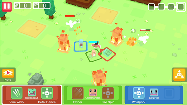 Pokémon Quest changes the well-known aesthetic of the series.