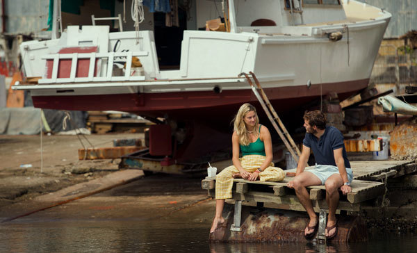 Tami (Shailene) and Richard (Sam) debate their trip