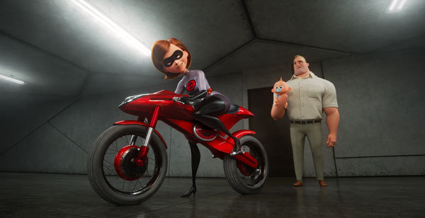 Mr. Incredible has to stay at home