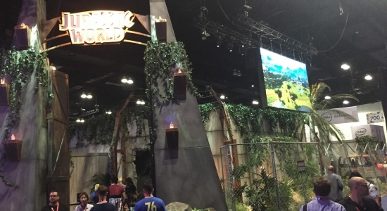 Jurassic World was released on day 1 of E3 and fans lined up around the booth to get a chance to play the demo