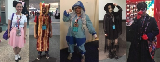E3 guests got creative with their costumes and were always happy to pose for a quick photo