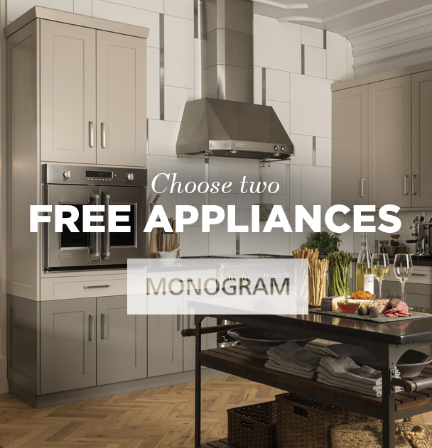 Choose Two Free Appliances with Monogram