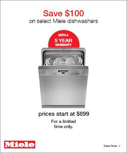 Save $100 on select dishwashers