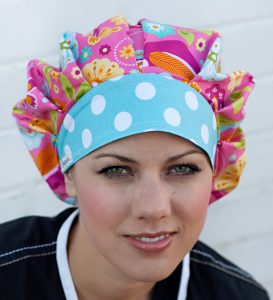 Our 2-Tone Twist on the Traditional Bouffant Style Surgical Hat. Scrub Hat f8e8d7ccaee