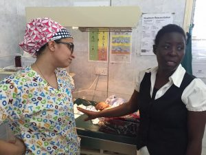 Medical Mission: Kenya nurse with cute surgical cap