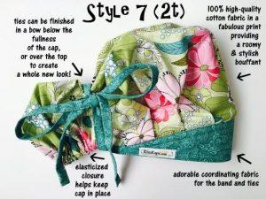kimkaps cute scrub hat style 7 1/2