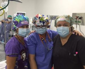 3 nurses with cute scrub hats