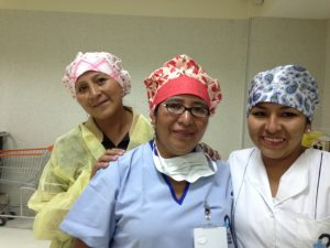 Medical mission Bolivia with cute surgical caps