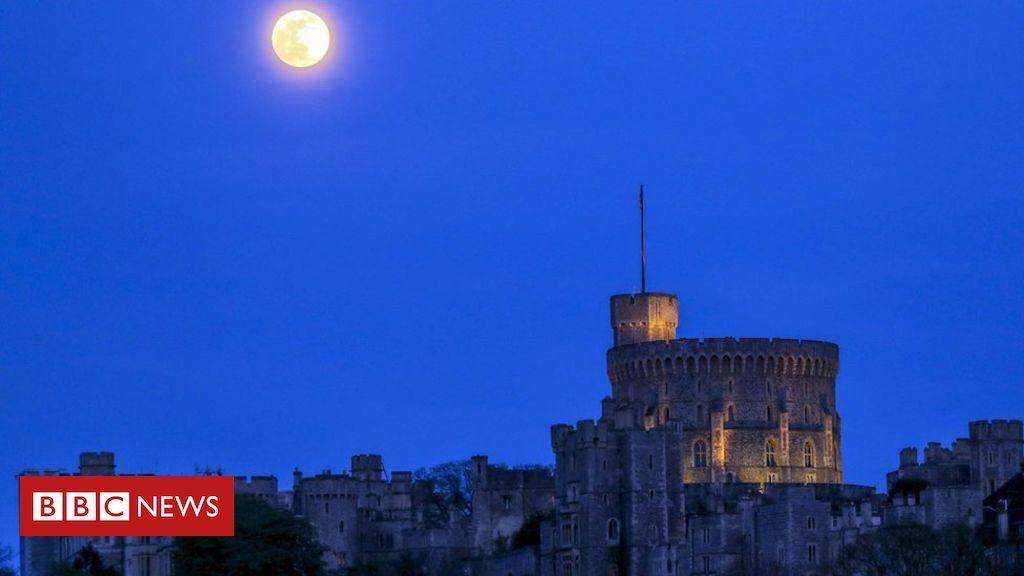 Pink Moon: Europe illuminated by