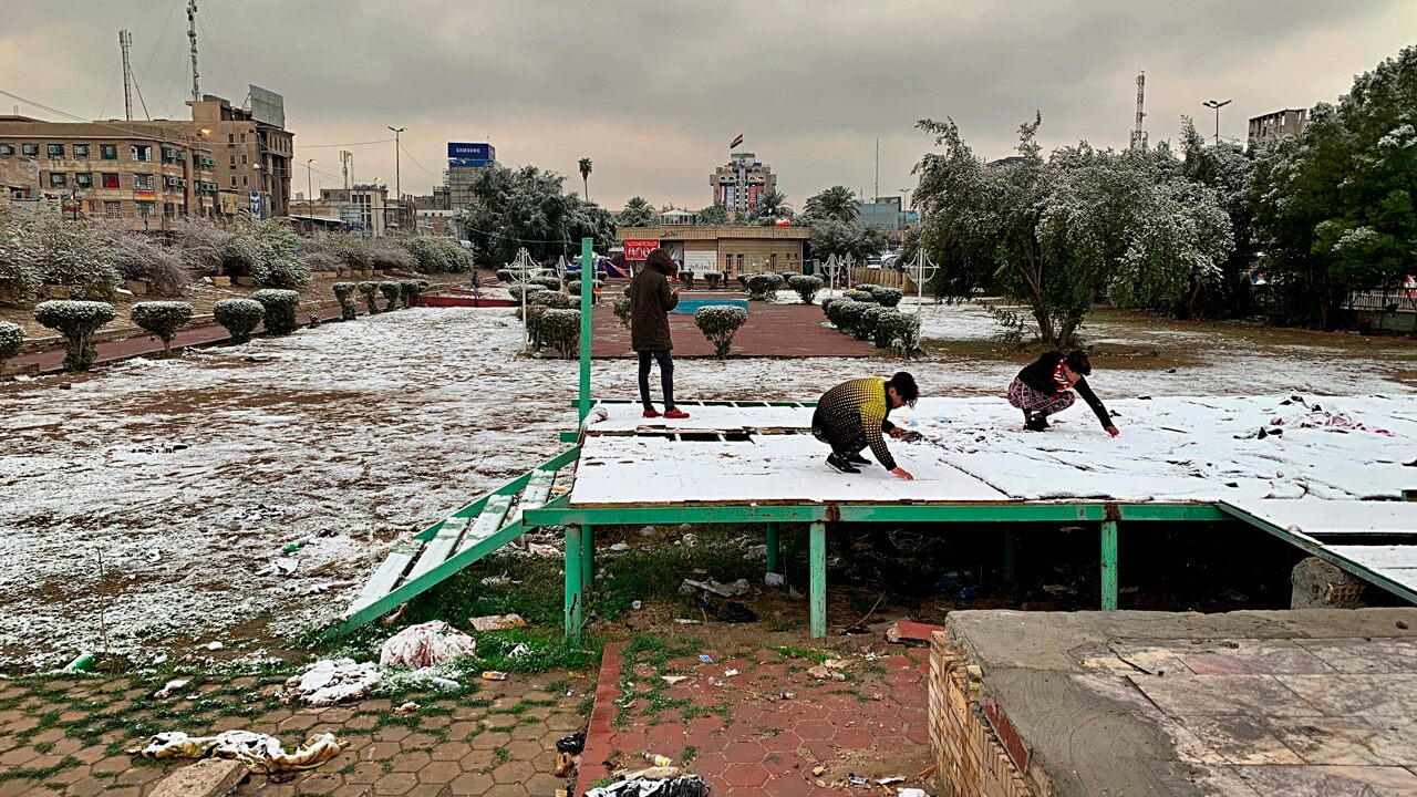 Iraq sees snow in Baghdad