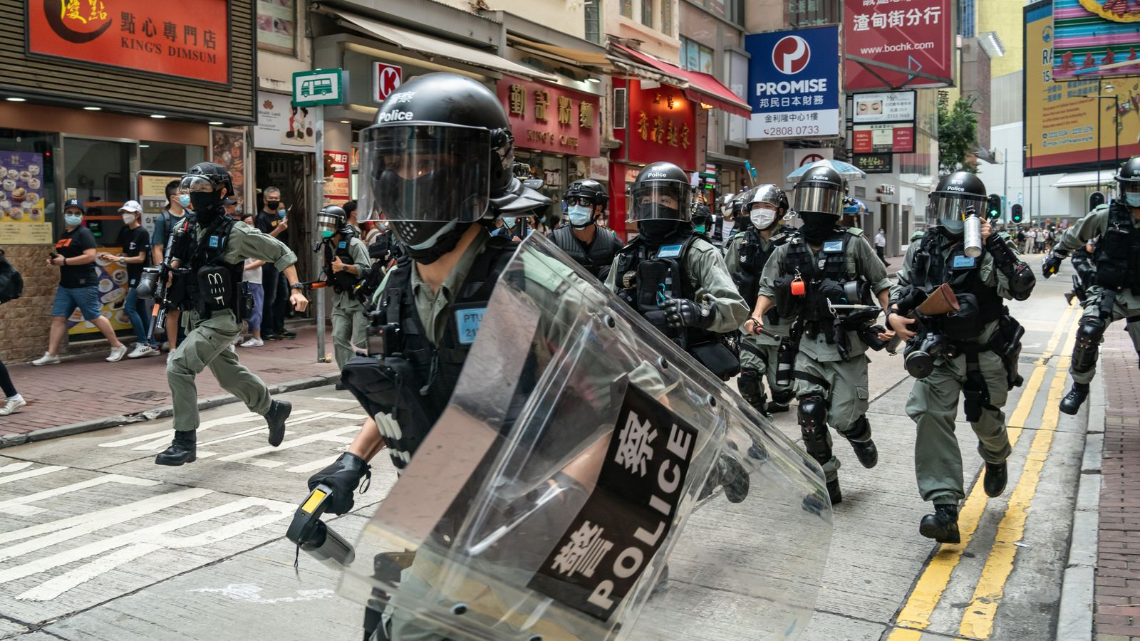 Police in Hong Kong make