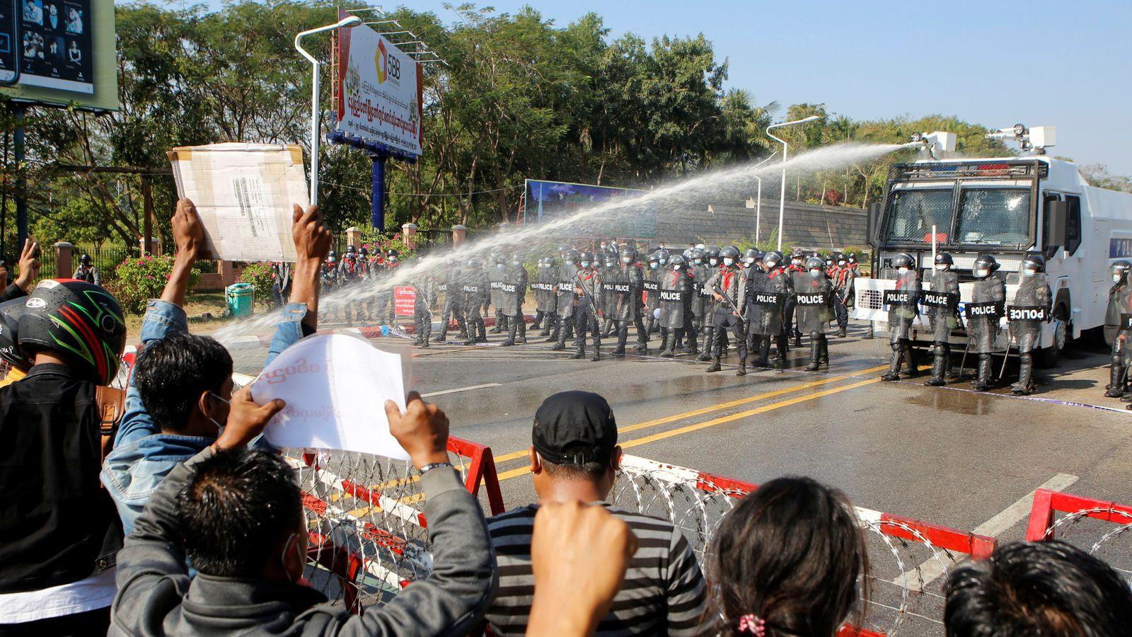 Dozens arrested in Myanmar as