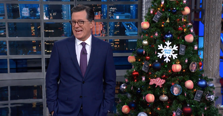 Stephen Colbert Was Feeling Merry