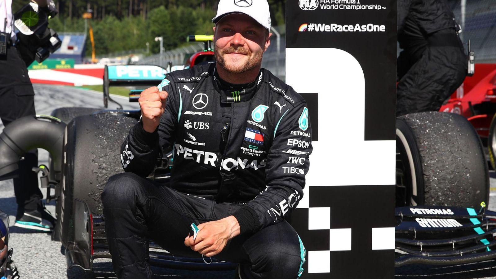 Bottas wins, Hamilton relegated to