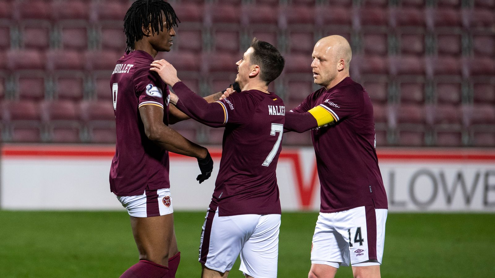 Hearts clinch Championship title Hearts