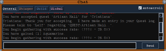 Gameplay Chat Help • Kisnard Online
