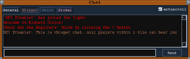 whisper chat type