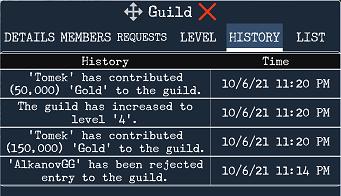 guild levels, guild enhancements