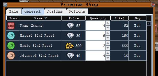 premium item shop