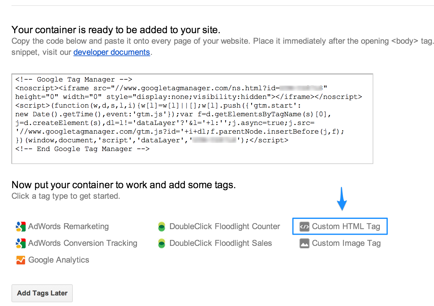 Kissmetrics - Installing Kissmetrics through Google Tag Manager