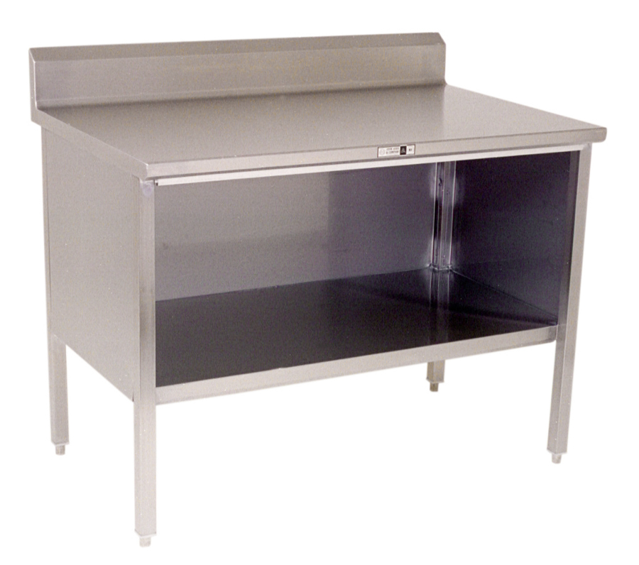 Boos Open-Front Stainless Steel Base Cabinet w/ 5