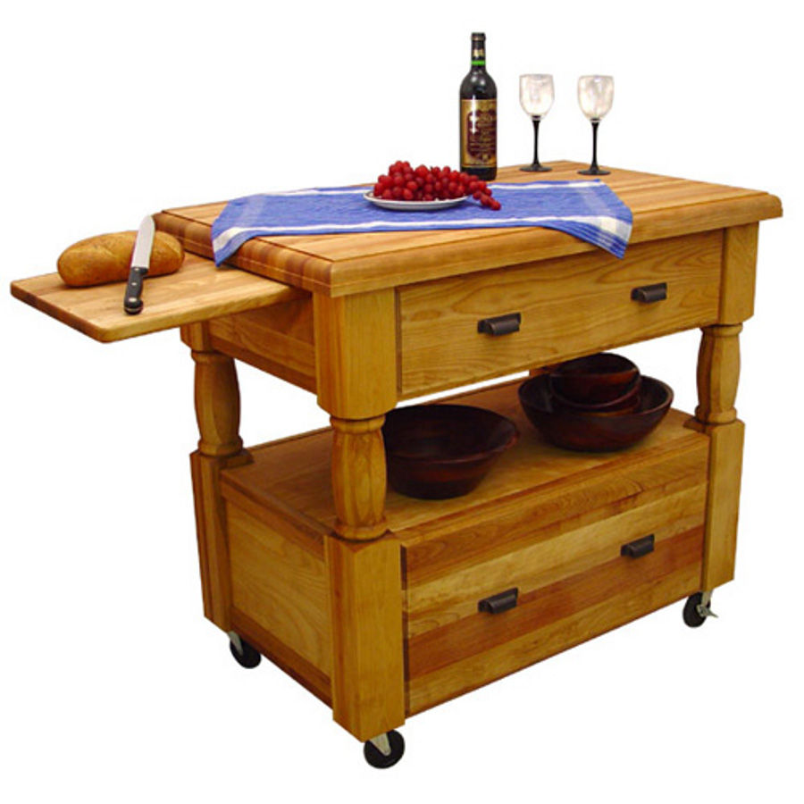 Commercial Kitchen Cart Cutting Professional Table: Butcher Block Kitchen Island