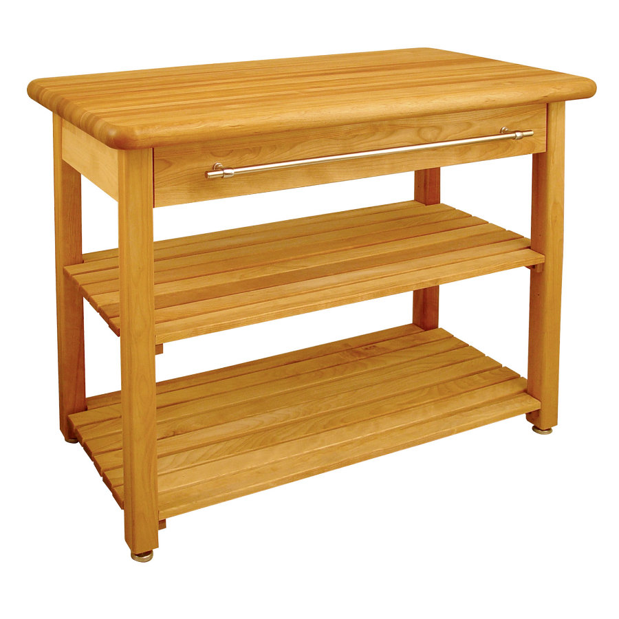 Catskill contemporary harvest table 48 - Butcher block kitchen table set ...