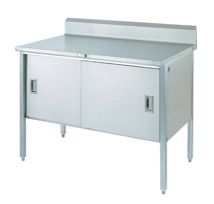 Boos Stainless Steel Enclosed Base Cabinet w/ Sliders & Riser - 16-Ga. Top