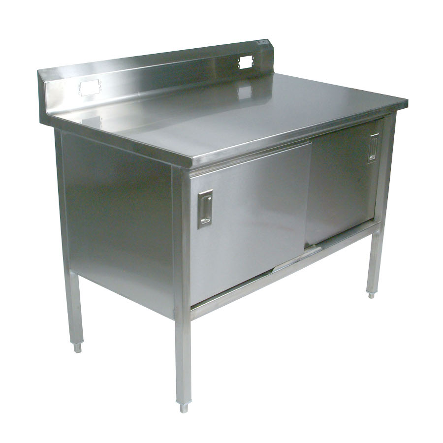 Boos Stainless Steel Enclosed Base Cabinet - Riser w/ Outlet Cutouts