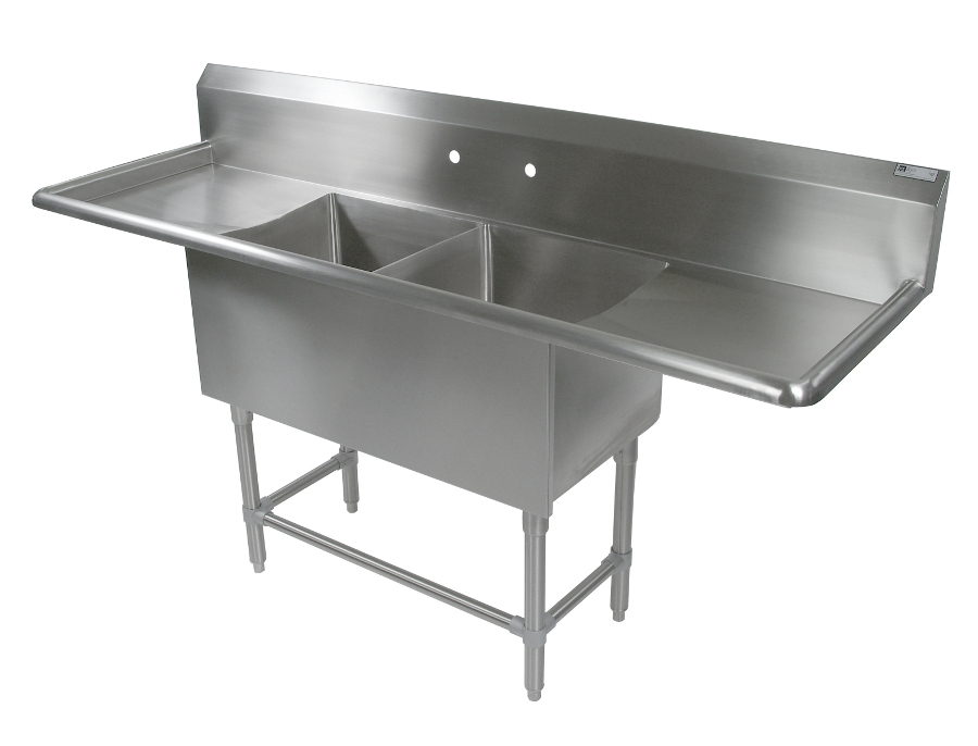 Utility Sinks With Drainboards : John Boos Bakery Sinks 20 x 28 Sink Bowls