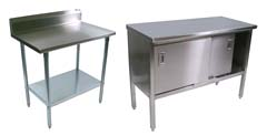 Boos Stainless Steel-Top Tables & Cabinets