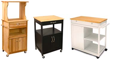 microwave kitchen carts