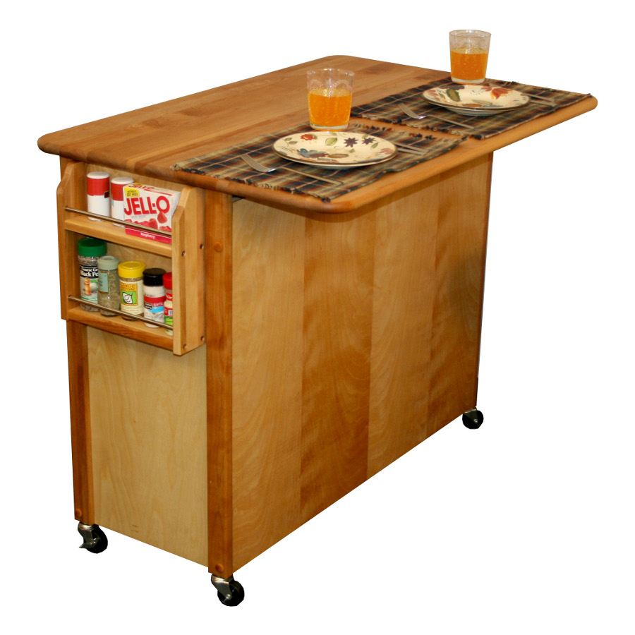 Rolling Kitchen Island With Leaf